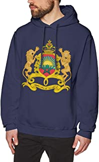 Men's Coat of Arms of Morocco National Emblem Hoodies Sweatshirt Pullover Sweater, Long Sleeves Hooded Sportswear