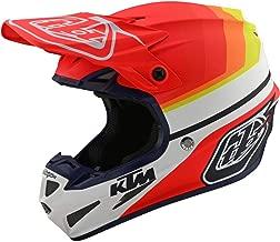 Troy Lee Designs Adult Offroad Motocross KTM Mirage Composite SE4 Helmet (X-Small, White/Orange) (Large, White/Orange)