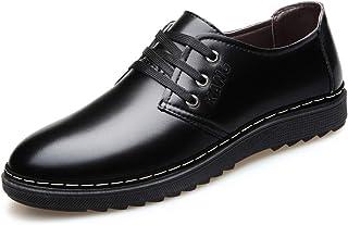 [ONE MAX] ビジネスシューズ メンズ 合成革 外羽根 スーツ用 ドレスシューズ レースアップ 革靴 ロングノーズ フォーマル スタイリッシュ 幅広 通気 防滑