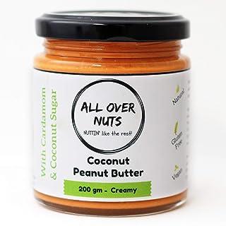 All Over Nuts Coconut Peanut Butter, Creamy, 200 gm (Stone Ground, Gluten Free, Vegan)