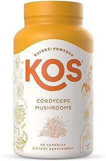 Sponsored Ad - KOS Organic Cordyceps Capsules 1500mg - Potent, Dual-Extracted Cordyceps Militaris Capsules - Endurance & E...