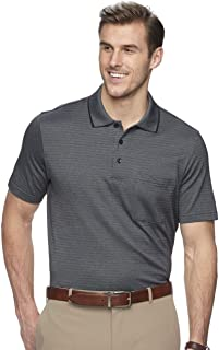 Men's Flex Short Sleeve Stretch Stripe Polo Shirt