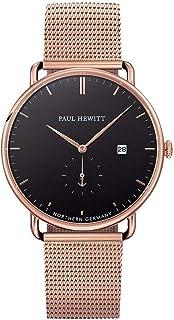 Reloj de Pulsera para Mujer en Acero Inoxidable Grand Atlantic Black Sea - Reloj con Correa Negra de Acero Inoxidable, Reloj de muñeca para Mujer con Esfera Negra y Detalles en Oro Rosa