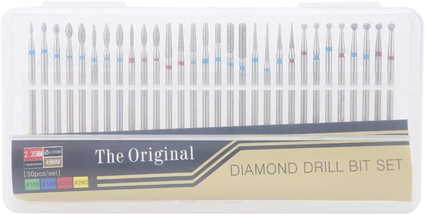 KESHIKUI New MEI 30Pcs Max 40% OFF Set Diamond Bullet Cuticle Drill Max 63% OFF Bit Nail