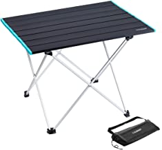 IKURAM Folding Camping Table Portable Ultralight Aluminum Table with Storage Bag for Outdoor, Camping, Picnic, BBQ, Beach,...