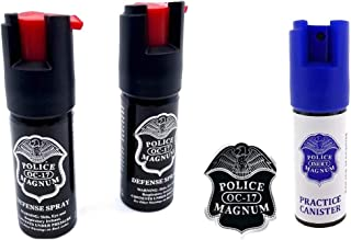 POLICE MAGNUM 2 Pepper Spray 1/2oz Ounce with Safety Lock Self Defense