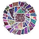 AIUIN 45 Piezas Pegatina de Uñas Pintura de Calavera de Copo de Nieve Atrapasueños Guías de Clavar Tip Pegatinas Conjunto con Uñas de Manicura