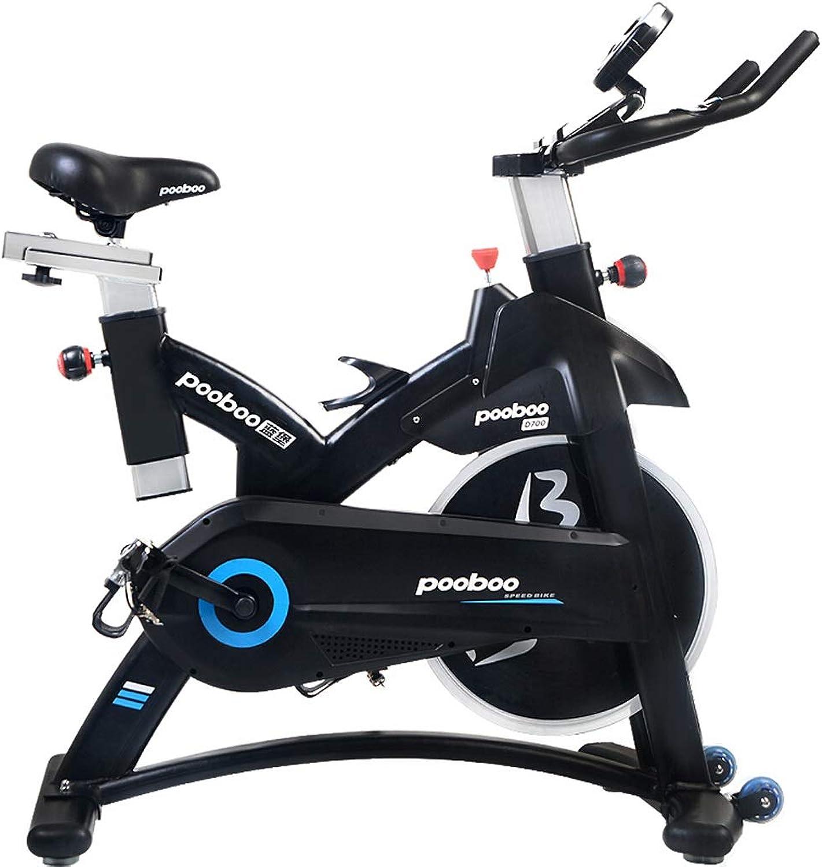Cly Elektromagnetische Kontrolle Heimtrainer Hause stumm Fitnessgerte Indoor-Fahrrad Sport Fahrrad schwarz Geeignet für Büroangestellte SY