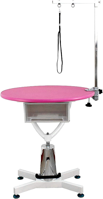 mesa redonda peinar perros pequeños, de color rosa y azul, automaticas