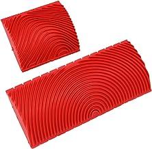 iplusmile 2 Stks Houtnerf Tool Graining Schilder Tool Imiteert Hout Patroon Verf Set Voor Thuiskantoor Diy Decoratie (3 In...