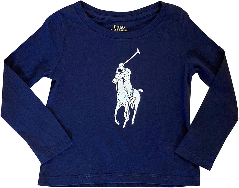 Ralph Finally resale start Lauren Polo Girls Ranking TOP8 Big Navy Pony Shirt Blue T