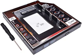 9.5mmユニバーサル SATA 2nd HDD SSD ハードディスクドライブ CD/DVD-ROMオプティカルベイ HDDアダプター ドライブをHDDやSSDに置き換え