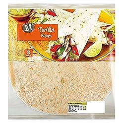 Morrisons White Tortilla Wraps, 8 Wraps, 320g