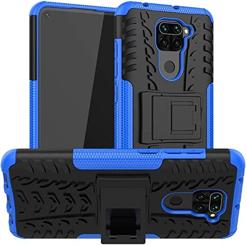 Lustree Redmi Note 9 Kick Stand Back Cover for Redmi Note 9 Blue