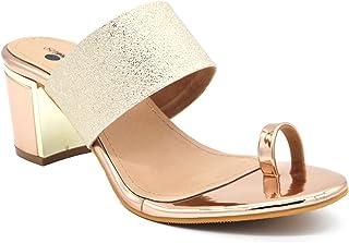 Toe Ring Sandals Block Heel Footwear For Women And Girls