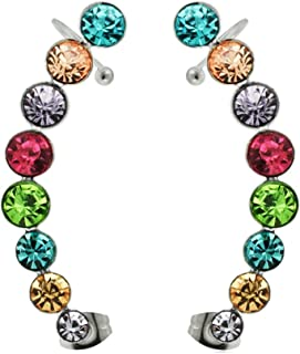 1 paire Fashion Lady Acier inoxydable paper clip oreille Stud Oreille Boucles D/'Oreilles Pendantes Bijoux