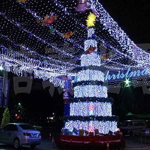 YUNDING Lights Mesh Fairy Lights Decoration Outdoor LED Net Light Garden Decorative Waterproof 220V 110V Wedding Party Holiday(Color:6mX4m)