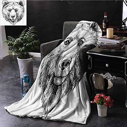 GGACEN Stoel Deken Grappige Husky Hond met Zonnebril Humorous Leuke Aquarel Cool Puppy Picture Gooi Lichtgewicht Cozy Pluche Microvezel Effen Deken