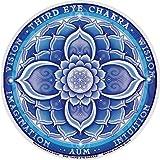 "Mandala Arts Third Eye Chakra – Window Sticker/Decal - Circular 4.5"" Translucent"