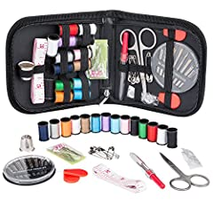 PERFECT SEWING KIT -- The kit contains all the necessary tools that are required for performing basic repairs - be it a needles, threads, scissors, buttons, thimble, threader tools, seam ripper and all sewing tools, everything neatly packaged ready f...