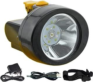 ACMENOVO LED Rechargeable Headlamp 2800mah Lightweight Waterproof Flashlight Head Light Miner Cap Lamp for Hard Hat, Hiking, Hunting, Fishing, Camping, Outdoor, Coal and Mining