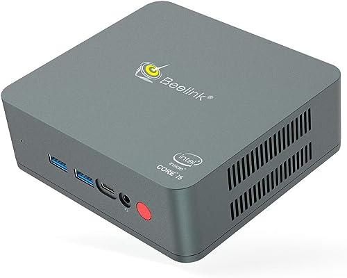 Beelink U57 Mini PC Windows 10, Intel Core i5-5257U Processeur (Jusqu'à 3,10 GHz), Mini Ordinateur de Bureau avec 8G ...