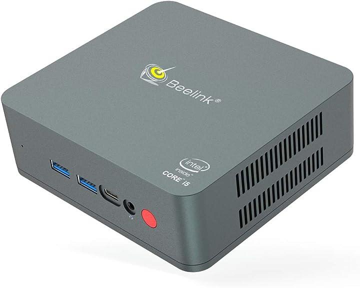Mini pc windows 10, intel core i5-5257u processore 8g ram+ 256g ssd beelink u57 B08DFL2L1F