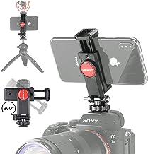 ULANZI ST-06 Camera Hot Shoe Phone Holder Flexible Phone Tripod Mount Adapter w Cold Shoe Mount for Microphone LED Light f...