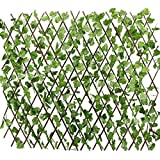 Expandable Artificial Grass Fence Artificial Hedge with Green Leaves. Total Height -20 inch/50cm - Exapandable upto 5 feet/60 inch/150cm High quality, invironment friendly, non toxic and absolute natural looking fence. Beautiful product for your gard...