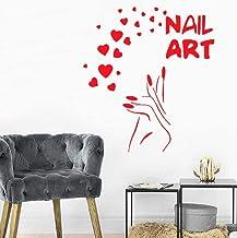 Adhesivos De Pared, Adhesivos De Pared Calcomanías Murales Papel Tapiz Belleza Etiqueta Para Salón De Uñas Manicura Escapa...