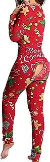 Mujer Pijama Entero Una Pieza Ropa de Estar en Casa Pijamas Invierno Una Pieza Casual Color Liso Cierre con Botones Mono Entero Pijama Ropa de Dormir Mameluco Adulto Jumpsuit Romper