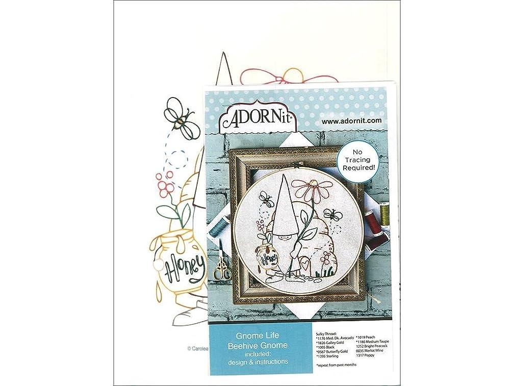 Adornit Artplay Fabric Monthly Stitchery Gnome Life June
