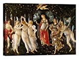 LuxHomeDecor Quadro Stampa su Tela con Telaio in Legno Sandro Botticelli Primavera con Vernice Effetto Dipinto Misura 40x30 CM