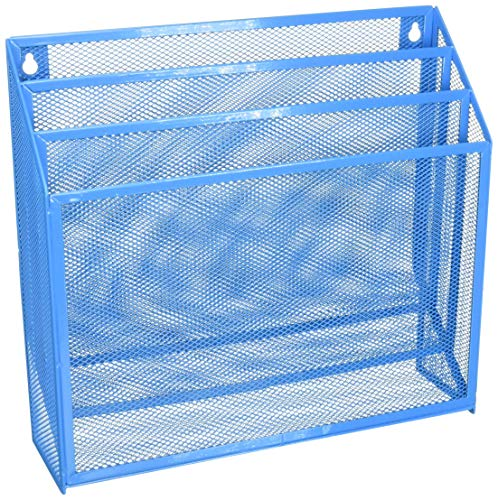 Honey-Can-Do Mesh Tisch Organisatoren, blau, 3.6 x 12.6 x 11.5