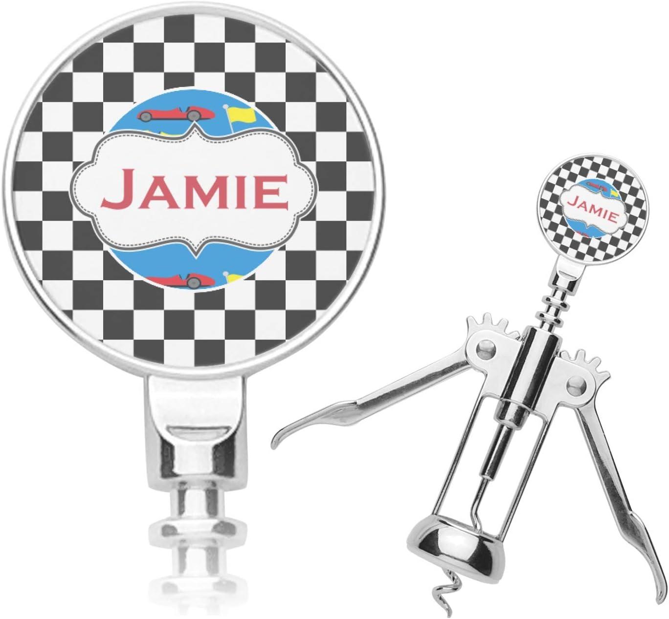 Checkers Racecars favorite Personalized Bargain sale Corkscrew