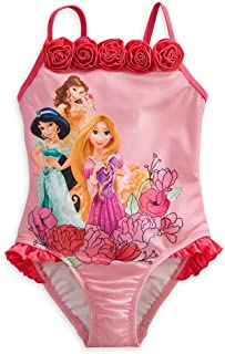 a87ca5f4d1 Disney Store Princess Rapunzel Jasmine Belle Swimsuit Bathing Suit Girl 5/6