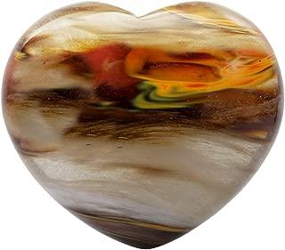 mookaitedecor Healing Crystals Heart Love Worry Palm Stone Reiki Balancing 1.6 inches,Volcano Cherry Quartz