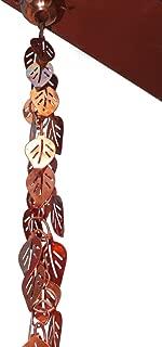 Monarch Pure Copper Cascading Leaves Rain Chain, 8-1/2-Feet Length