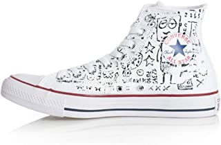 Converse all Star Hi Ltd Hand Painted White
