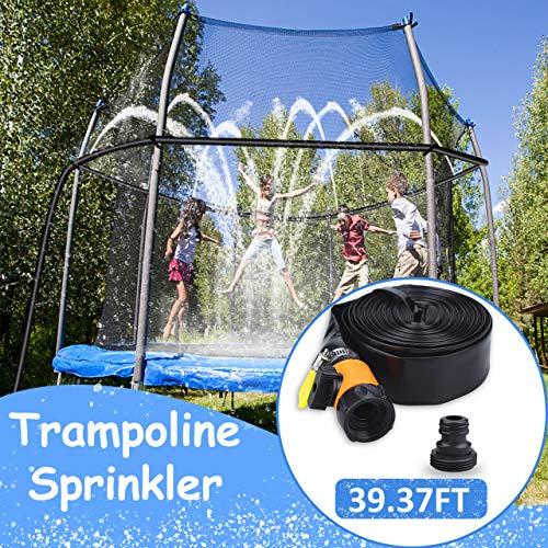 aovowog Spruzzatore per Trampolino Sprinkler, Spruzzo per Parco Acquatico per Trampolino All'aperto per Bambini, Gioco da Giardino Estivo in Acqua per Bambine (12M/39,37piedi)