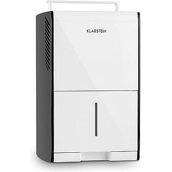 Klarstein Drybest 10 - Deshumidificador, Purificador de Aire, Deshumidificador eléctrico, 10L/24h, Motor de 205W, Filtro de Aire Integrado, 18-20m², Depósito de 1,9 litros, Blanco-Gris: Amazon.es: Hogar