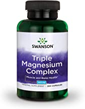 Sponsored Ad - Swanson Triple Magnesium Complex Absorption Bone and Mood Health Citrate Oxide and Aspartate Combination Su...