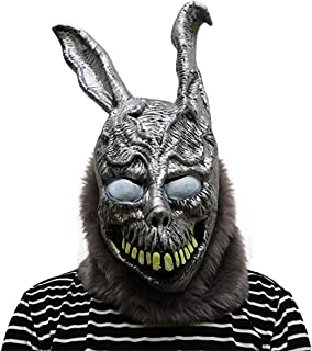 Donnie Darko Frank the Bunny Mask Latex Overhead with Fur Scary Animel Rabbit Mask by hearty lady