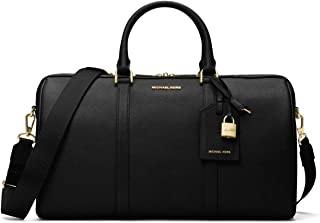 Jet Set Travel Large Leather Weekender - Black