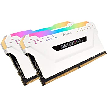 Corsair Vengeance RGB PRO 32GB (2x16GB) DDR4 3200 (PC4-25600) C16 Desktop Memory - White