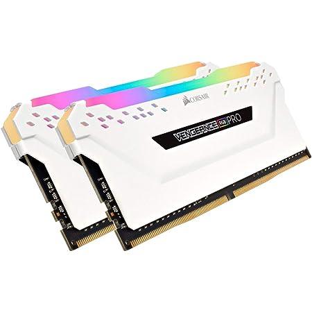 Corsair Vengeance RGB PRO - Kit de Memoria Entusiasta 32 GB (4 x 8 GB), DDR4, 3200 MHz, C16, XMP 2.0, Iluminación LED RGB, Blanco
