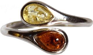 MJ Baltica anello Argento 925 e Ambra Naturale regolabile BP031p
