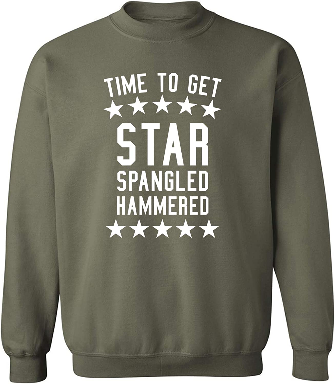 zerogravitee Time to Get Star Spangled Crewneck Sweatshirt