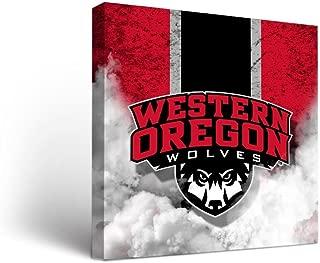 Western Oregon University WOU Wolves Canvas Wall Art Vintage Design