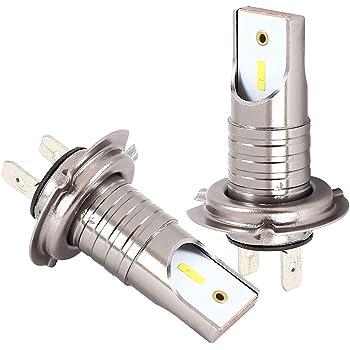 Lampadina Faro M7 H7 LED con Luce Abbagliante//Lampada Inferiore Fascio Luminoso 55W 13000Lm 6000K Alogeno LED Bianco Kit Di Aggiornamento 2 Pezzi